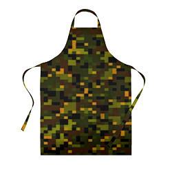 Фартук кулинарный Камуфляж пиксельный: хаки цвета 3D — фото 1