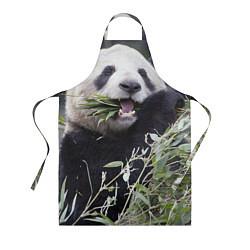 Фартук кулинарный Панда кушает цвета 3D — фото 1