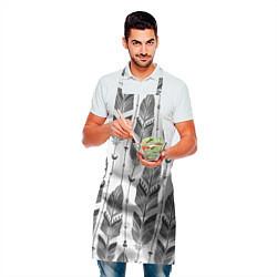Фартук кулинарный Перья цвета 3D-принт — фото 2