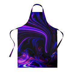 Фартук кулинарный Цветные разводы цвета 3D-принт — фото 1