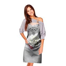 Кулинарный фартук с принтом Невеста с букетом, цвет: 3D, артикул: 10093034903988 — фото 2