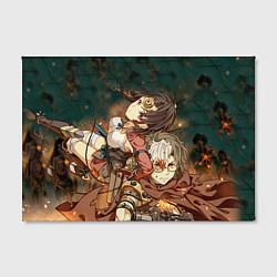 Холст прямоугольный Воин крепости цвета 3D — фото 2
