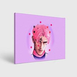 Холст прямоугольный Lil Peep: Pink Edition цвета 3D — фото 1