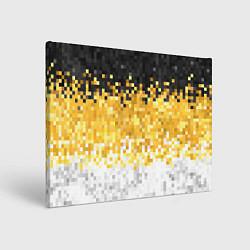 Холст прямоугольный Имперский флаг пикселами цвета 3D — фото 1