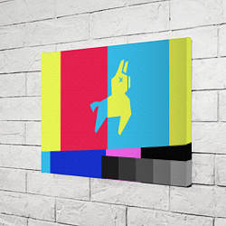 Холст прямоугольный Цветная Лама цвета 3D — фото 2