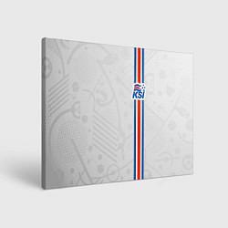 Холст прямоугольный Сборная Исландии по футболу цвета 3D-принт — фото 1