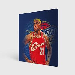 Холст квадратный LeBron 23: Cleveland цвета 3D — фото 1