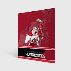 Холст квадратный Carolina Hurricanes цвета 3D — фото 1
