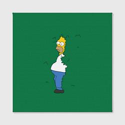 Холст квадратный Гомер в кустах цвета 3D-принт — фото 2