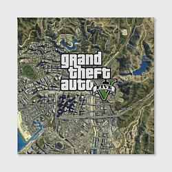 Холст квадратный GTA 5: Map Screen цвета 3D — фото 2