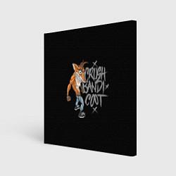 Холст квадратный Crush Bandicoot цвета 3D — фото 1