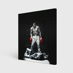 Холст квадратный Muhammad Ali цвета 3D-принт — фото 1
