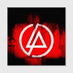 Холст квадратный Linkin Park: Red style цвета 3D — фото 2