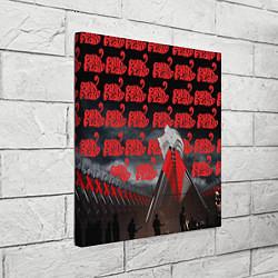Холст квадратный Pink Floyd Pattern цвета 3D — фото 2