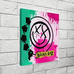 Холст квадратный Blink-182: Purple Smile цвета 3D-принт — фото 2