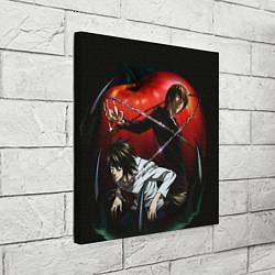 Холст квадратный Тетрадь смерти цвета 3D — фото 2