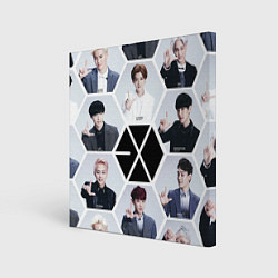 Холст квадратный EXO Boys цвета 3D — фото 1