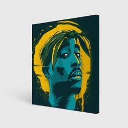Холст квадратный 2Pac Shakur цвета 3D — фото 1