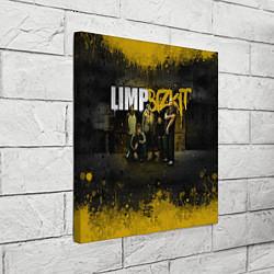 Холст квадратный Limp Bizkit: Gold Street цвета 3D-принт — фото 2