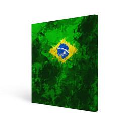 Холст квадратный Бразилия цвета 3D-принт — фото 1
