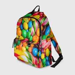Рюкзак Сладкие конфетки цвета 3D — фото 1
