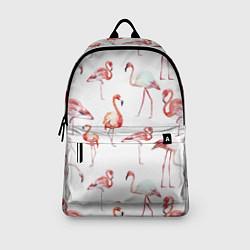 Рюкзак Действия фламинго цвета 3D-принт — фото 2