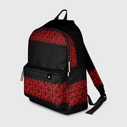 Рюкзак Славянский орнамент (на чёрном) цвета 3D-принт — фото 1