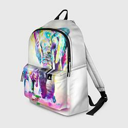 Рюкзак Акварельные слоны цвета 3D-принт — фото 1