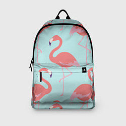 Рюкзак Розовые фламинго цвета 3D-принт — фото 2