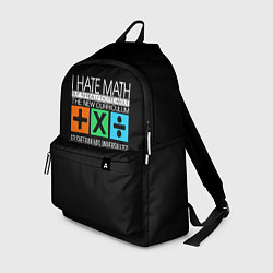 Рюкзак Ed Sheeran: I hate math цвета 3D-принт — фото 1