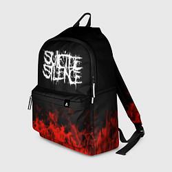 Рюкзак Suicide Silence: Red Flame цвета 3D-принт — фото 1
