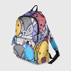 Рюкзак Влюбленный енот цвета 3D-принт — фото 1