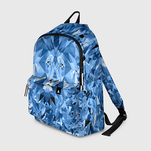 Рюкзак Сине-бело-голубой лев / 3D – фото 1