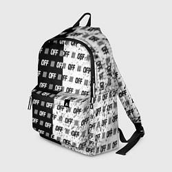 Рюкзак Off-White: Black & White цвета 3D-принт — фото 1