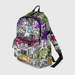 Рюкзак Watch Dogs: Pattern цвета 3D-принт — фото 1