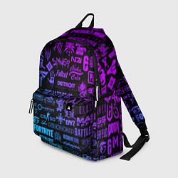 Рюкзак Неоновые лого игр цвета 3D — фото 1