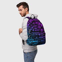 Рюкзак Неоновые лого игр цвета 3D-принт — фото 2