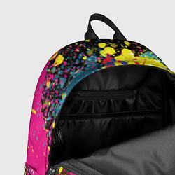 Рюкзак Панда хипстер в брызгах краски цвета 3D-принт — фото 2