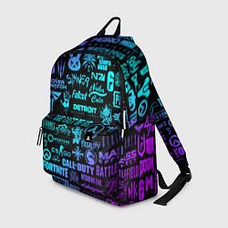 Рюкзак ЛОГОТИПЫ ИГР цвета 3D — фото 1