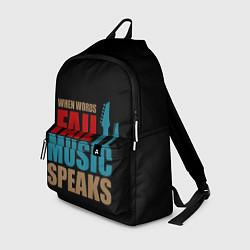 Рюкзак Музыка цвета 3D — фото 1