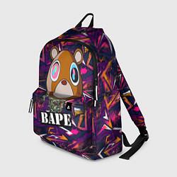 Городской рюкзак с принтом BAPE Im Crazy, цвет: 3D, артикул: 10290574705601 — фото 1