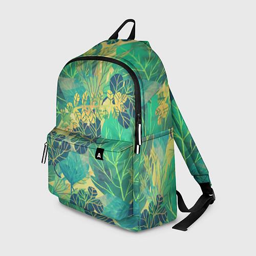 Рюкзак Узор из листьев / 3D – фото 1