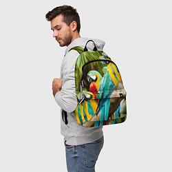 Рюкзак Попугаи на ветке цвета 3D-принт — фото 2