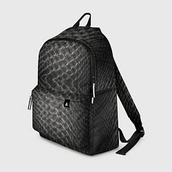 Рюкзак Черная кожа цвета 3D-принт — фото 1