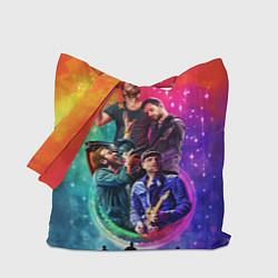 Сумка-шопер Coldplay Stories цвета 3D-принт — фото 1