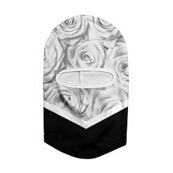 Балаклава Розы цвета 3D-белый — фото 2