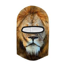 Балаклава Гордый лев цвета 3D-черный — фото 2