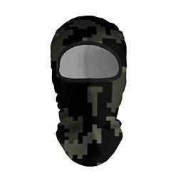 Балаклава Камуфляж пиксельный: черный/серый цвета 3D-черный — фото 1