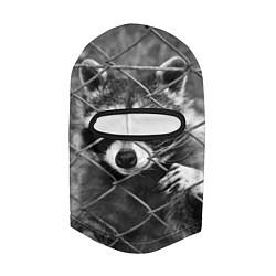 Балаклава Енот за решеткой цвета 3D-черный — фото 2