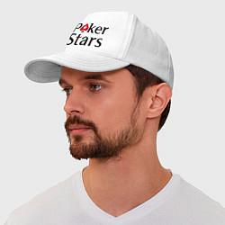 Бейсболка Poker Stars цвета белый — фото 1
